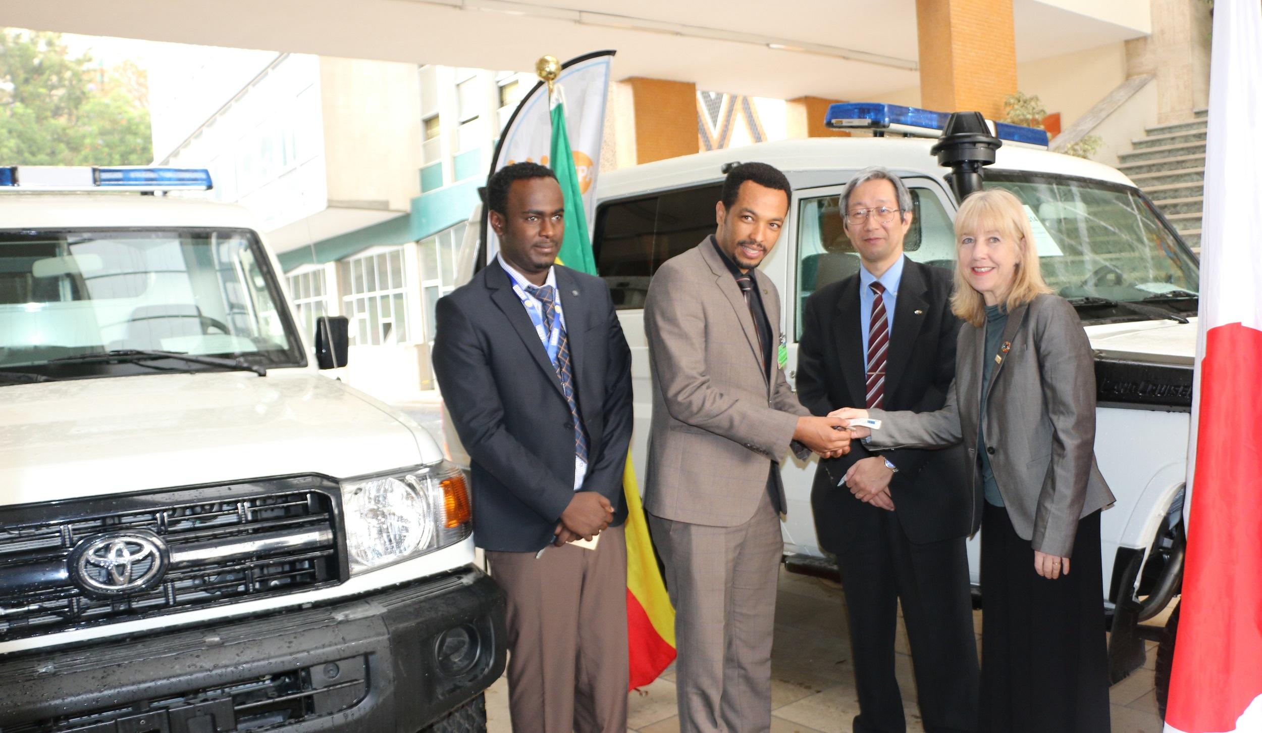 UNFPA Ethiopia | UNFPA handed-over ambulances to Oromia and